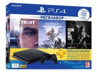 Игровая приставка Sony PlayStation 4 (1Тб) в комплекте с тремя играми HorizonZeroDawn/Detroit: Стать человеком/Одни из нас